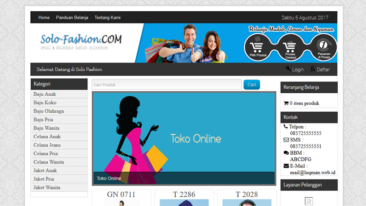 Source Code Website Toko Online Gratis